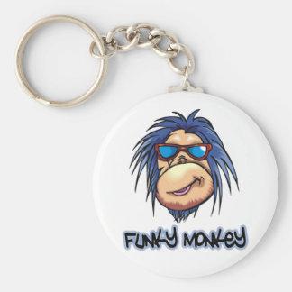 Funky Monkey Basic Round Button Keychain