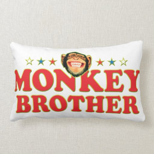 Funky Monkey Brother Pillow