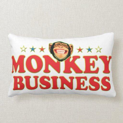 Funky Monkey Business Throw Pillow