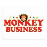Funky Monkey Business Postcard