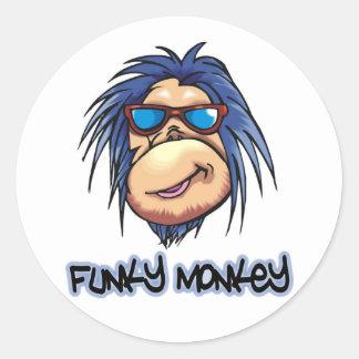 Funky Monkey Classic Round Sticker
