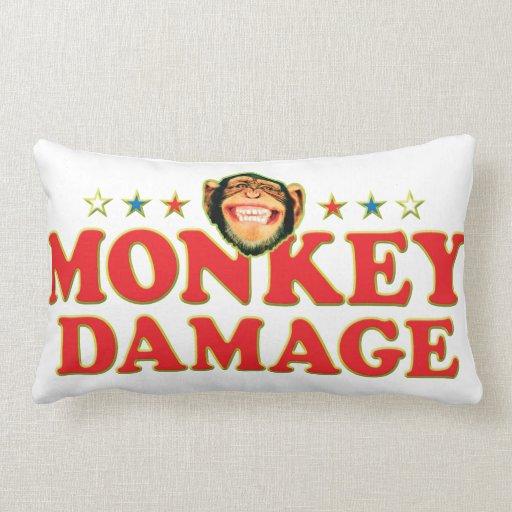 Funky Monkey Damage Throw Pillow