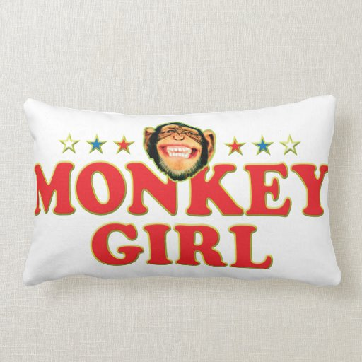 Funky Monkey Girl Pillow
