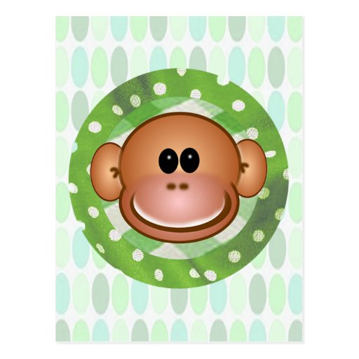 Funky Monkey Greeting Cards Postcard