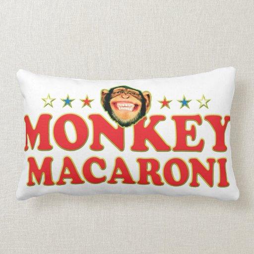 Funky Monkey Macaroni Throw Pillow