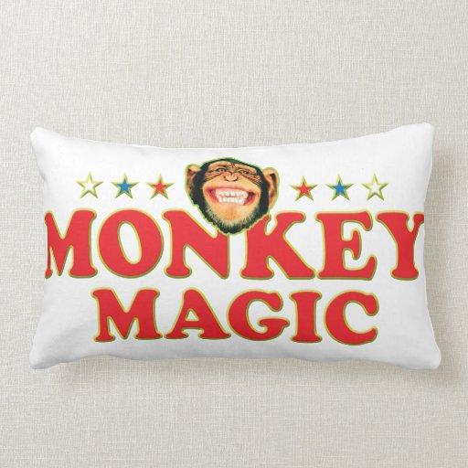 Funky Monkey Magic Throw Pillow