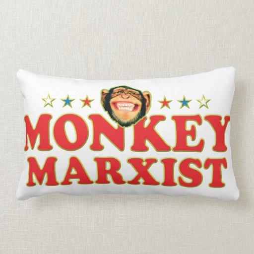 Funky Monkey Marxist Throw Pillow