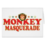 Funky Monkey Masquerade Card