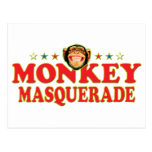 Funky Monkey Masquerade Postcards