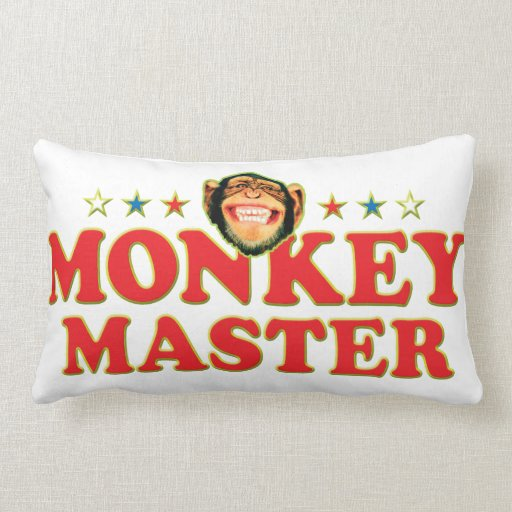 Funky Monkey Master Throw Pillow