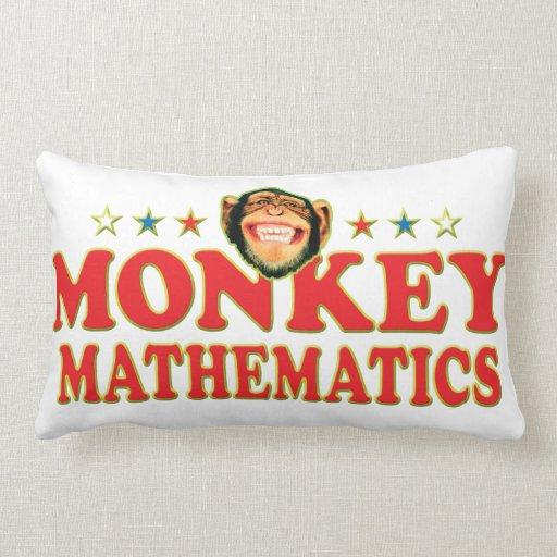 Funky Monkey Mathematics Throw Pillow