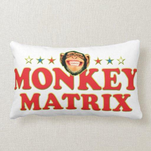 Funky Monkey Matrix Throw Pillow