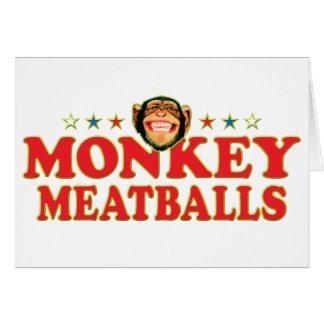 Funky Monkey Meatballs Card