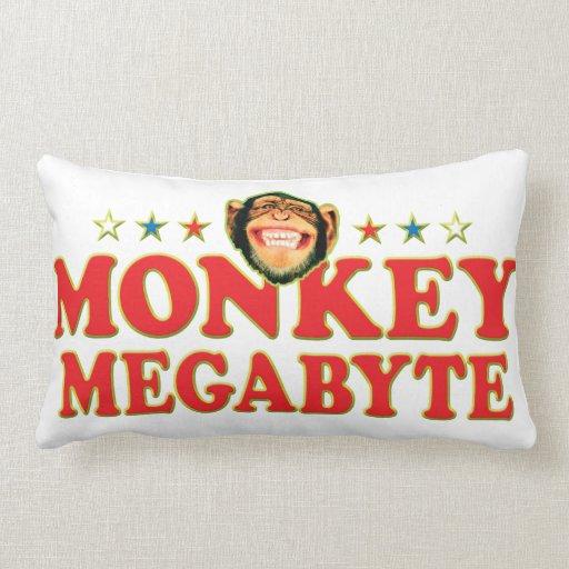 Funky Monkey Megabyte Throw Pillows