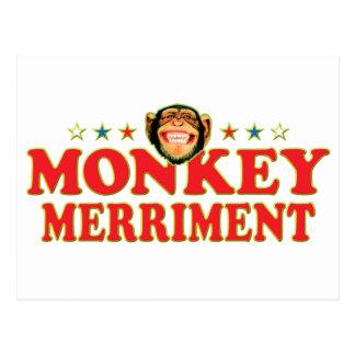 Funky Monkey Merriment Postcard