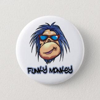 Funky Monkey Pinback Button