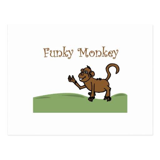 Funky Monkey Post Card