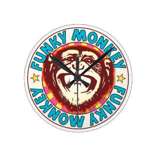 Funky Monkey Round Clock