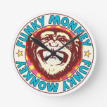 Funky Monkey Round Wall Clock