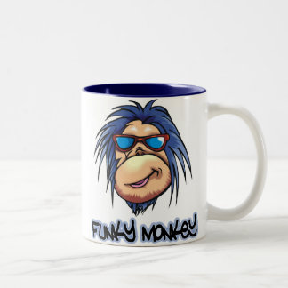 Funky Monkey Two-Tone Coffee Mug