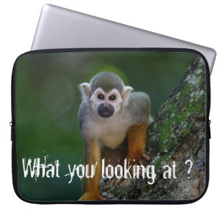 Funky Monkey-  What you looking at ? Computer Sleeve