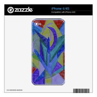 Funky mosaic abstract art iPhone 4S skins