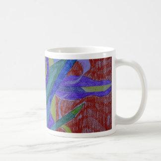 Funky mosaic abstract art mug