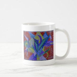 Funky mosaic abstract art coffee mug