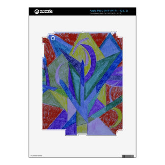 Funky mosaic abstract art skins for iPad 3