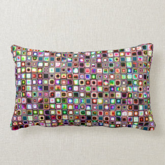 Funky Mosaic Tiles Pattern With Jewel Tones Pillows