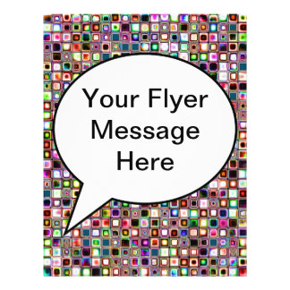 Funky Mosaic Tiles Pattern With Jewel Tones Flyer