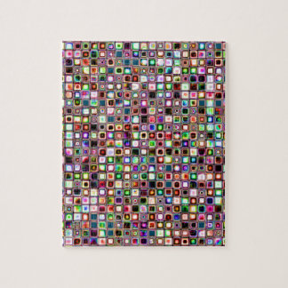 Funky Mosaic Tiles Pattern With Jewel Tones Puzzles