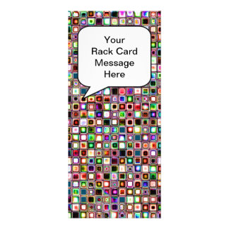 Funky Mosaic Tiles Pattern With Jewel Tones Rack Card