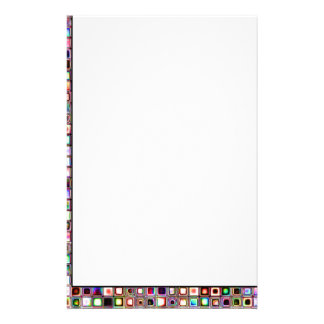 Funky Mosaic Tiles Pattern With Jewel Tones Stationery