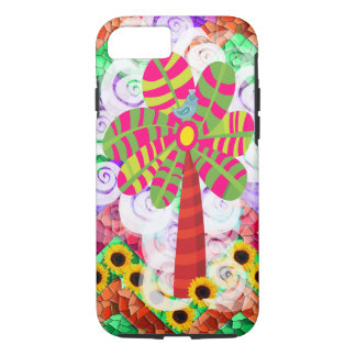 Funky Mosaic Tree Sunflowers Summer iPhone 7 Case