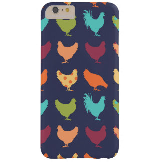 Funky Multi-colored Chicken Pattern Barely There iPhone 6 Plus Case