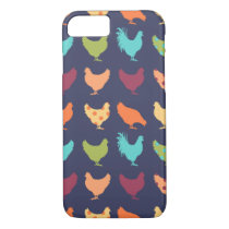 Funky Multi-colored Chicken Pattern iPhone 8/7 Case