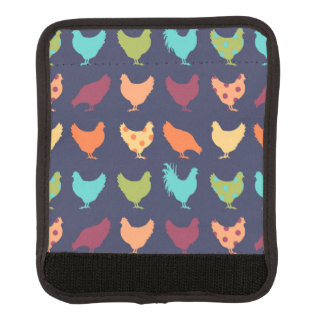 Funky Multi-colored Chicken Pattern Handle Wrap