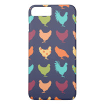 Funky Multi-colored Chicken Pattern iPhone 7 Plus Case