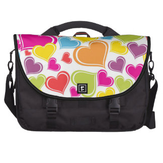 Funky Multi Colored Hearts Design Commuter Bags