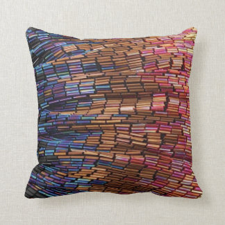 Funky Multi Colored Seed Bead Look Mojo Pillow