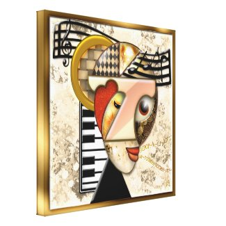 Funky Music - A Surrealistic Portrait Canvas Prints