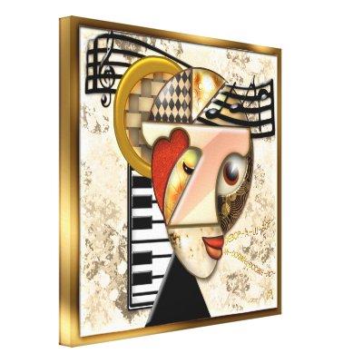 Funky Music - A Surrealistic Portrait Canvas Prints