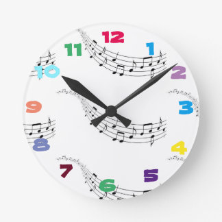 funky music time round clock