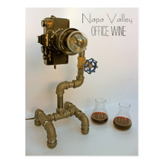 Funky Napa Valley Office Wine Postcard! Postcard