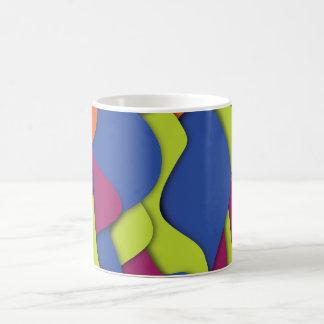 Funky Neon Abstract Art Coffee Mug