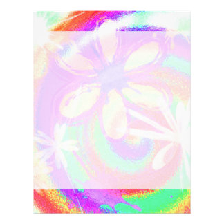 funky neon floral abstract flyer