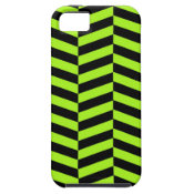 Funky Neon Green and Black Zig Zags Chevron iPhone 5 Cover