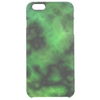 Funky Neon Green Emerald Halloween Abstract Clear iPhone 6 Plus Case