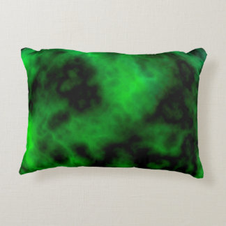 Funky Neon Green Emerald Halloween Abstract Decorative Pillow